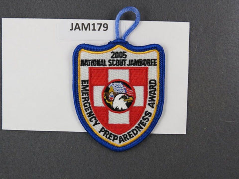 2005 National Scout Jamboree Emergency Preparedness Award Blue Border [JAM179]^^