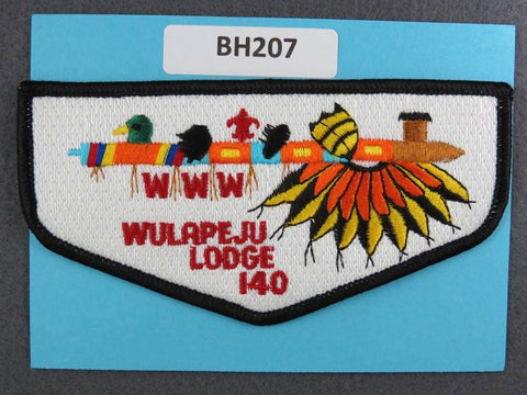 OA Lodge # 140 Wulapeju Flap Black Border Blackhawk Area  [BH207]**