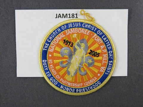 2005 National Scout Jamboree The Church of Jesus Christ of Latter-Day Saints Yellow Border [JAM181]^^