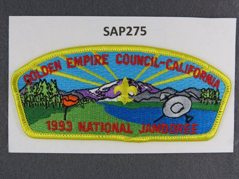 Golden Empire Council California CSP 1993 National Jamboree Yellow Border - Scout Patch HQ