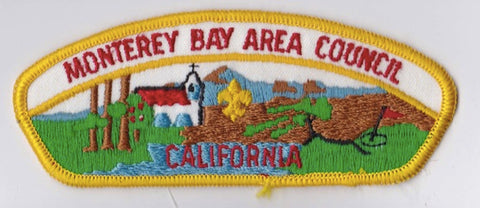Monterey Bay Area Council CA Yellow Border Cloth Backing FDL CSP ## CSP856