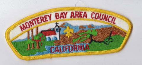 Monterey Bay Area Council CA Yellow Border Cloth Backing FDL CSP ## CSP857