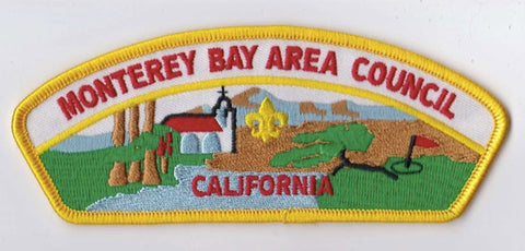 Monterey Bay Area Council CA Yellow Border Scout Stuff Backing FDL CSP ## CSP860