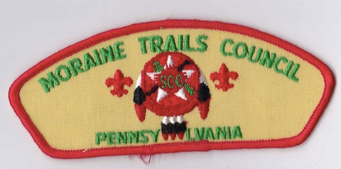 Moraine Trails Council PA Red Border Plastic Backing FDL CSP ## CSP862