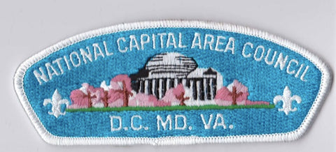 National Capital Area Council DC/MD/VA White Border Plastic Backing FDL CSP ## CSP873