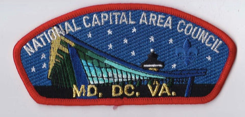 National Capital Area Council DC/MD/VA Red Border Plastic Backing FDL CSP ## CSP896