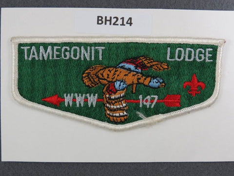 OA Lodge # 147 Tamegonit Flap White Border Heart of America  [BH214]**