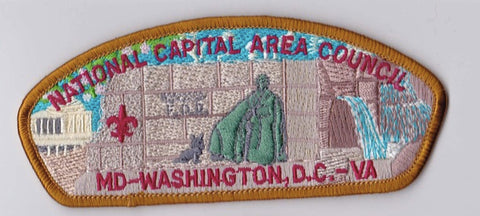National Capital Area Council DC/MD/VA Light Brown Border Plastic Backing FDL CSP ## CSP900