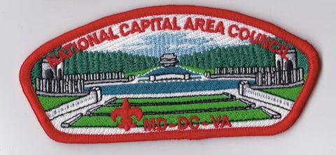National Capital Area Council DC/MD/VA Red Border Plastic Backing FDL CSP ## CSP901