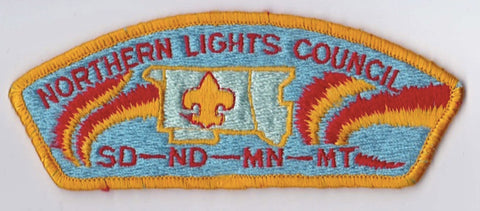 Northern Lights Council SD/ND/MN/MT Sewn Yellow Border Plastic Backing FDL CSP ## CSP938