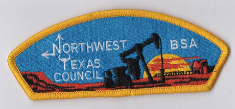 Northwest Texas Council TX Yellow Border Plastic Backing BSA CSP ## CSP954