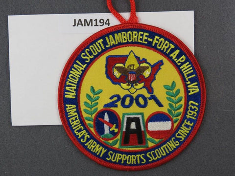 2001 National Scout Jamboree America's Army Supports Scouting Red Border [JAM194]^^