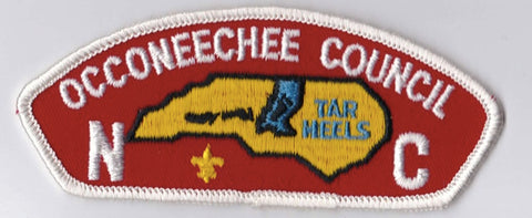 Occoneechee Council NC White Border Cloth Backing FDL CSP ## CSP961