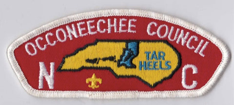 Occoneechee Council NC White Border Plastic Backing FDL CSP ## CSP963