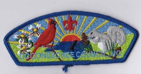 Occoneechee Council NC Blue Border Plastic Backing FDL CSP ## CSP964