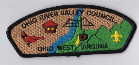 Ohio River Valley Council OH & W.VA Black Border Plastic Backing FDL CSP ## CSP969