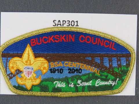 Buckskin Council CSP 2010 BSA Centennial Gold Mylar Border - Scout Patch HQ