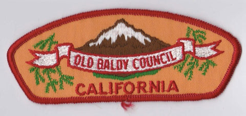 Old Baldy Council CA Red Border Cloth Backing Pre-FDL CSP ## CSP975