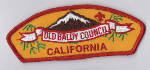 Old Baldy Council CA Red Border Plastic Backing FDL CSP ## CSP978