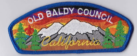 Old Baldy Council CA Blue Border Plastic Backing FDL CSP ## CSP979