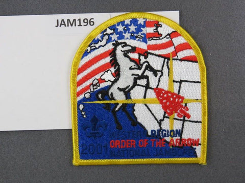2001 National Scout Jamboree Western Region Order of The Arrow Yellow Border [JAM196]^^