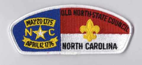 Old North State Council NC White Border Scout Stuff Backing FDL CSP ## CSP990