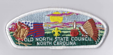 Old North State Council NC White Border Plastic Backing FDL CSP ## CSP994