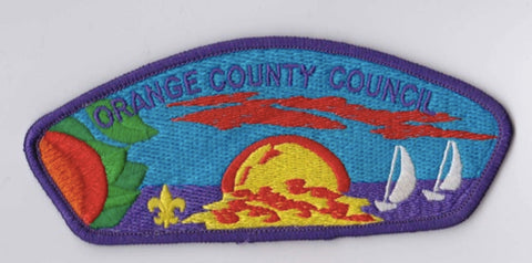 Orange County Council CA Purple Border Scout Stuff Backing FDL CSP ## CSP999