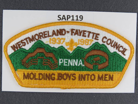 Westmoreland - Fayette Council CSP Molding Boys Into Men Yellow Border
