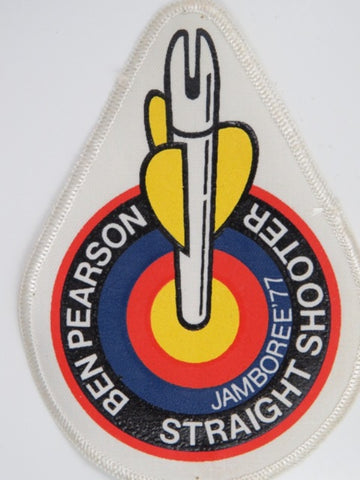1977 National Jamboree Ben Pearson Straight Shooter WHT Bdr. [C-092]