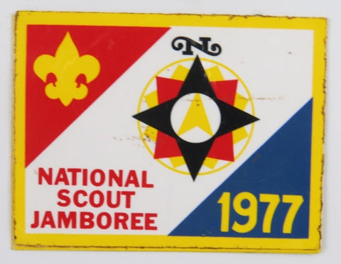 1977 National Scout Jamboree YEL Bdr. Decal Rectangle [C-098]