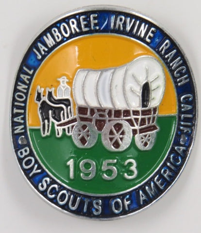 1953 National Jamboree Irvine Ranch Calif.  Hicking Stick Medallion Mint In Bag With 2 Nails  [C10]