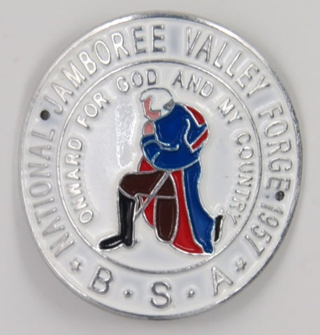 1957 National Jamboree Valley Forge  Hicking Stick Medallion Mint In Bag With 2 Nails  [C11]