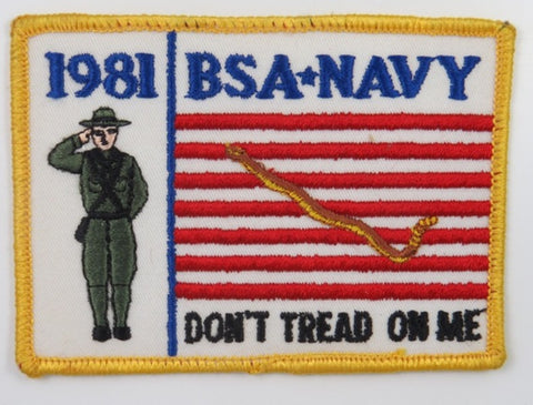 1981 National Jamboree BSA Navy Don't Tread On Me YEL Bdr. [C-123]