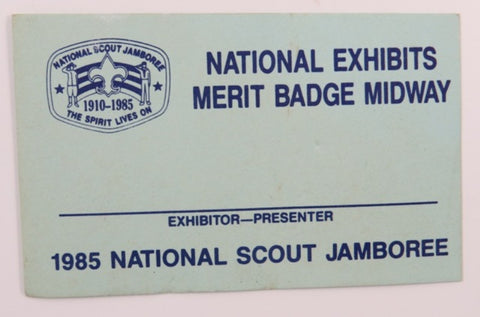 1985 National Scout Jamboree National Exhibits Merit Badge Midway Card [C-144]