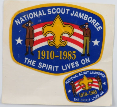 1985 National Scout Jamboree Sticker Sheet The Spirit Lives On YEL Bdr. [C-149]