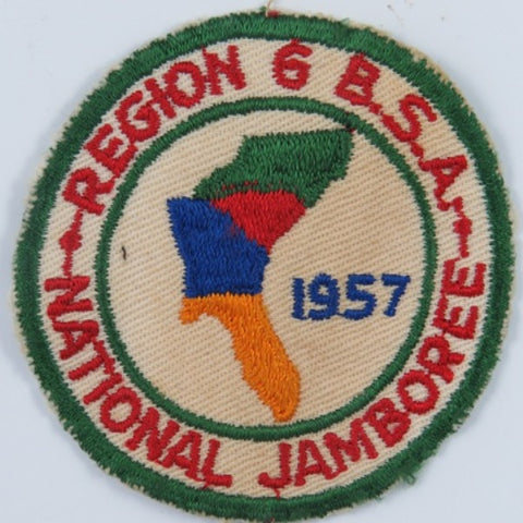 1957 National Jamboree Region 6 BSA GRN Bdr. (worn) [C14]
