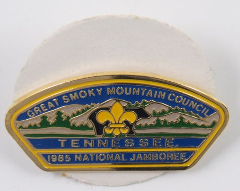 1985 National Jamboree Great Smoky Mountain Council Tennessee Hat Pin  [C-155]