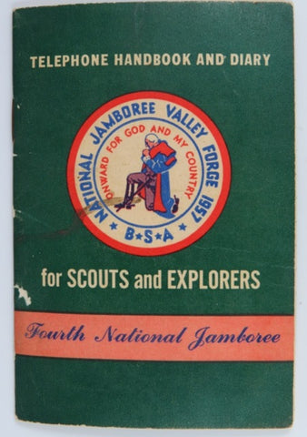 1957 National Jamboree Valley Forge Telephone Handbook and Diary [C15]