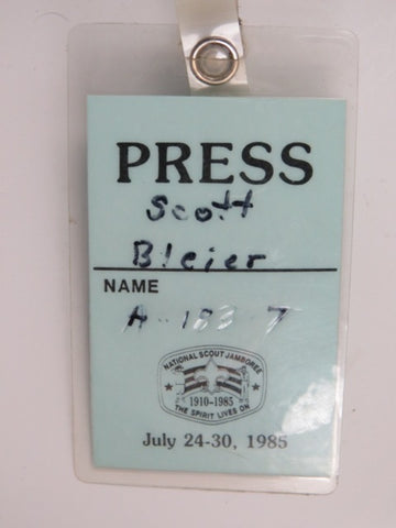 1910-1985 July 24-30, 1985 Scout Jamboree The Spirit Lives On Press Scott Bleier [C-161]