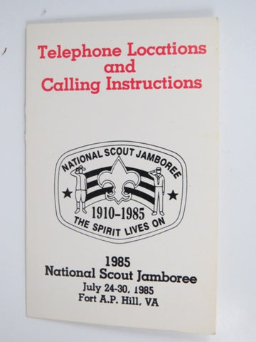 1985 Jamboree The Spirit Lives On Telephone Locations & Calling Instructions [C-164]