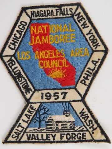 1957 National Jamboree Los Angeles Area Council BLK Bdr. [C16]