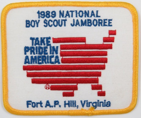 1989 National Scout Jamboree Take Pride In America FT A.P. Hill, VA YEL Bdr. [C-182]