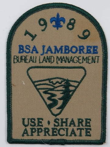 1989 BSA Jamboree Bureau Land Management Use, Share Appreciate DGR Bdr. [C-187]