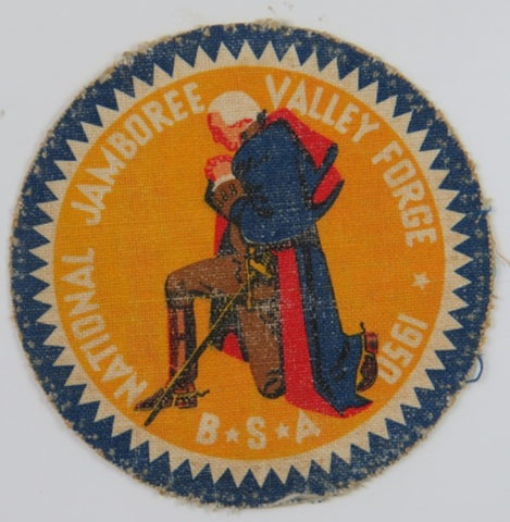 1950 National  Jamboree Canvas Valley Forge BSA BLU Bdr. (worn) [C1]