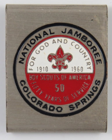 1910-1960 Jamboree Colorado Spring BSA 50 Yrs. Commemorative Belt Loop [C20]