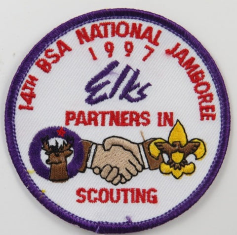 1997 National Jamboree 14th ELKS BSA Partners In Scouting PUR Bdr. [C-233]