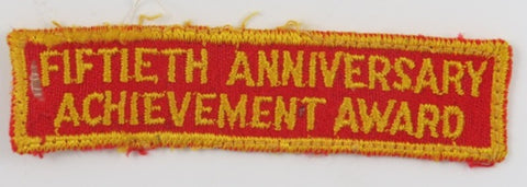 1960 Jamboree Fiftieth Anniversary Achievement Award DYL Bdr. (small moth hole) [C24]