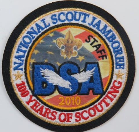 2010 National Jamboree 100 Yrs. Of Scouting Staff BSA BLK Bdr. [C-251]