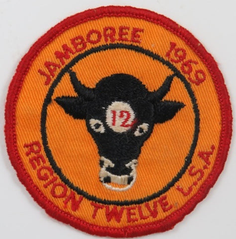 1969 Jamboree Region Twelve BSA RED Bdr. (sewn) [C-278]
